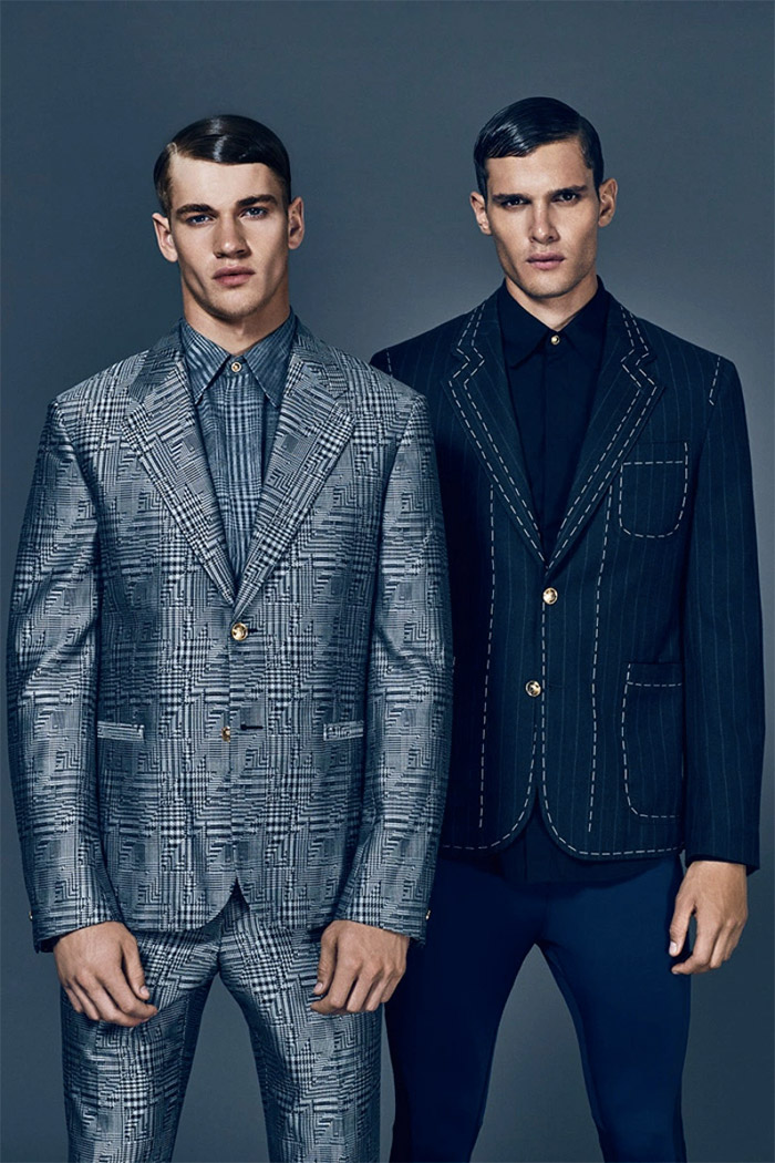 Liam Vandiar and Matty Carrington shot by Mark Cant and styled Joseph Kocharian with FW15 pieces from Moschino, Sibling, Givenchy and more, for the latest issue of Attitude magazine.