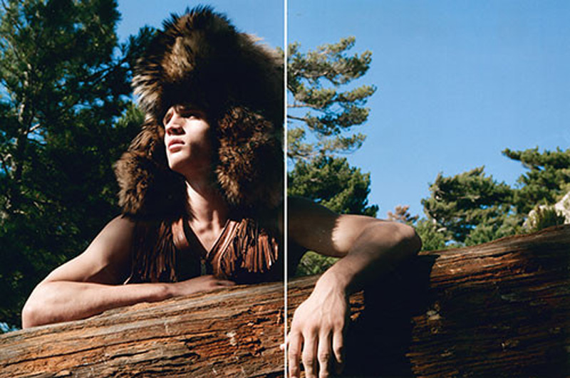 Always we feeling inspired by the great images of photographer Milan Vukmirovic. Julian Schneyder wears exclusively DSquared2 after starring in the campaign as he becomes one with the forest in Fashion for Men's Fall/Winter 2015 issue by Milan Vukmirovic.