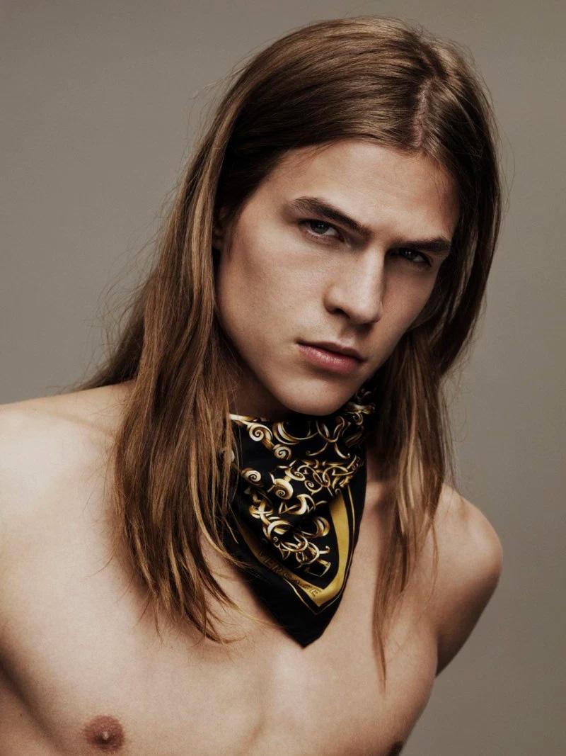 Benjamin Benedek and Malcom Lindberg front the new Scarves campaign of Versace, shot by Ben Weller.